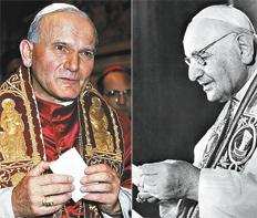 Juan Pablo II y Juan XXIIII