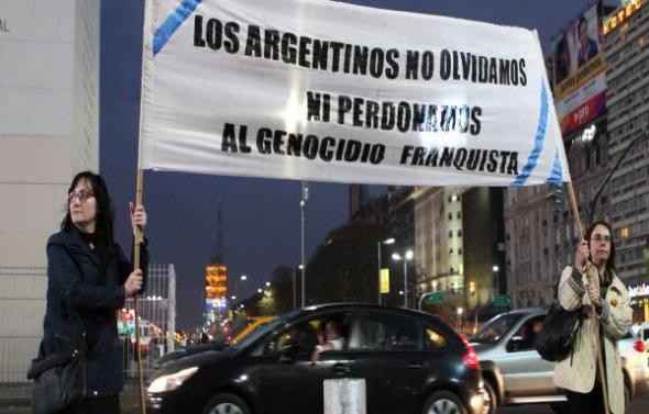 protesta genocidio franquista ARG