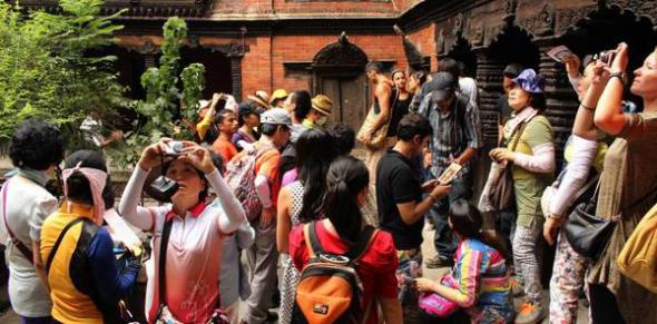 turistas diosa Nepal