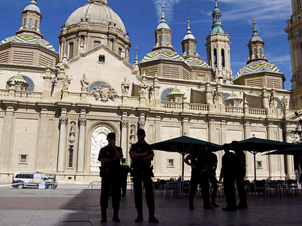 basílica del Pilar Zaragoza explosión 2013