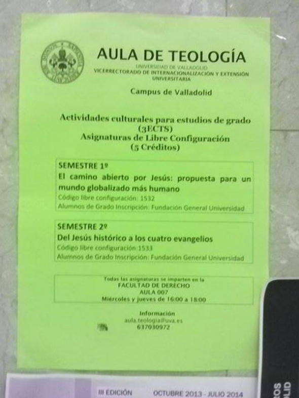 Aula teología Universidad de Valladolid 2013