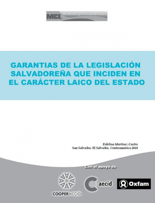 laicidad constituciones El Salvador