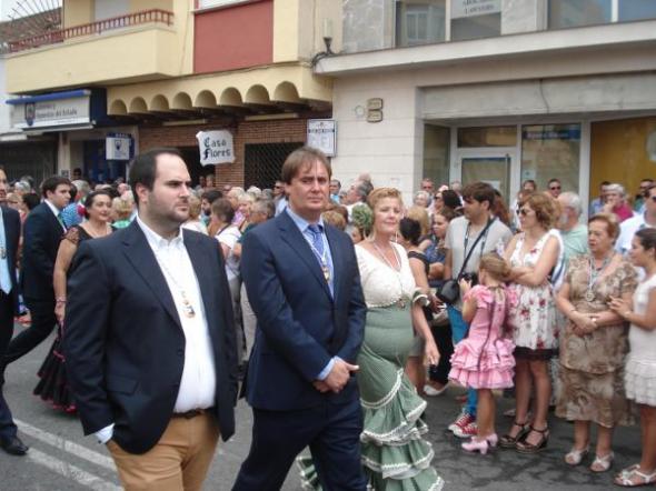 Procesión Fuengirola 2013 Tres concejales PSOE