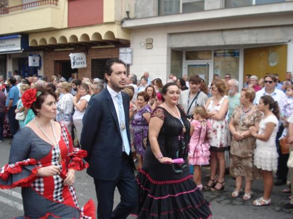 Procesión Fuengirola 2013 Dos concejales PSOE y IU -Monica Castillo Lopez-
