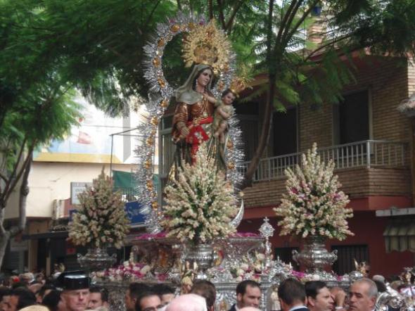 Procesión Fuengirola 2013 Virgen del Rosario Alcaldesa Perpetua Fuengirola