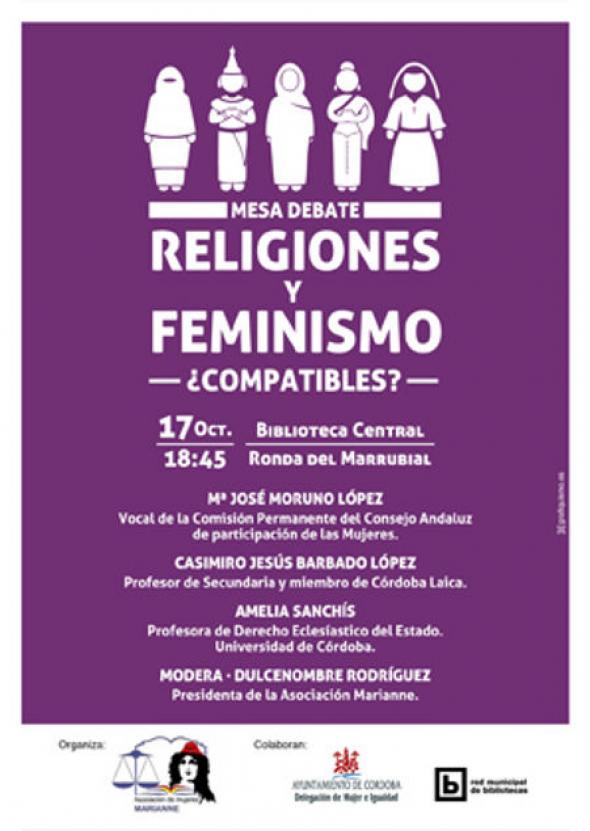 cartel feminismo-y-religion Córdoba