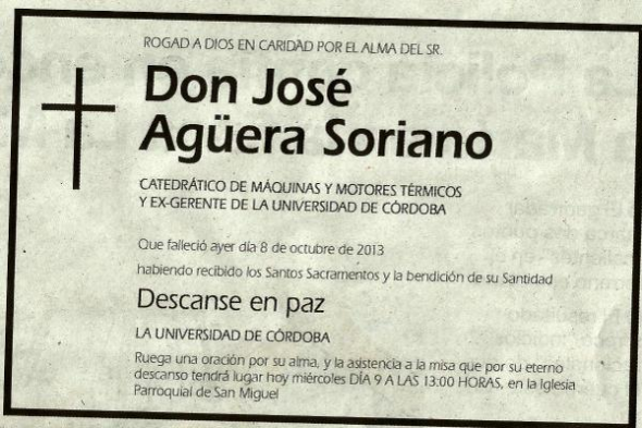 Esquela Universidad de Córdoba