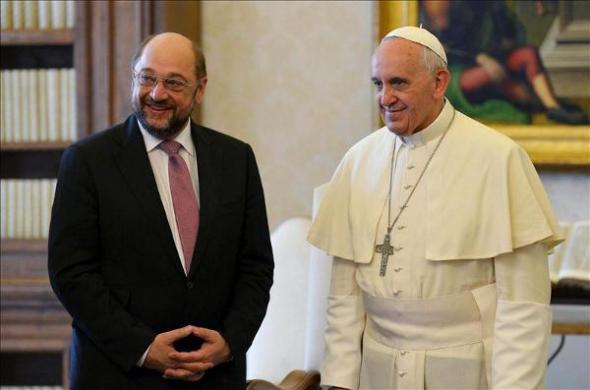 Bergoglio y Presidente Parlamento Europeo