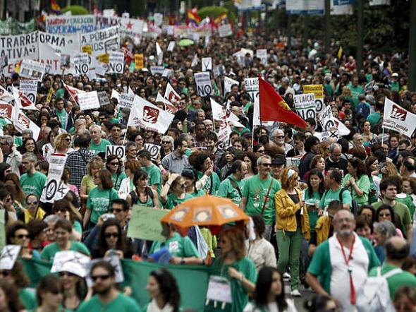 Mani huelga LOMCE Madrid 2013