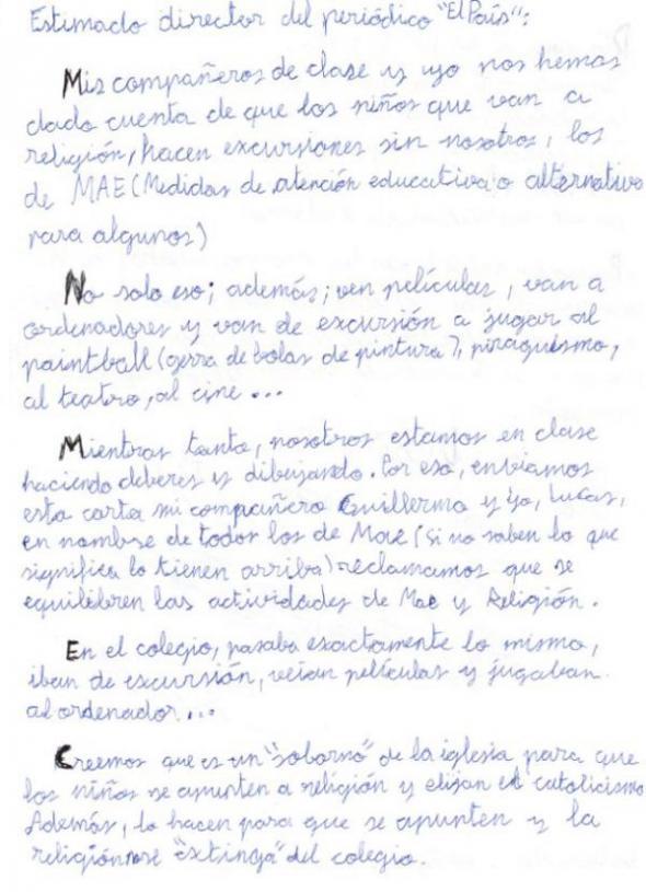 carta alumnos ESO religión 1