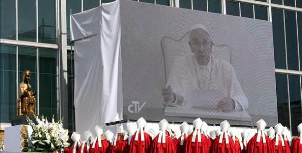 Bergoglio beatificación Tarragona 2013