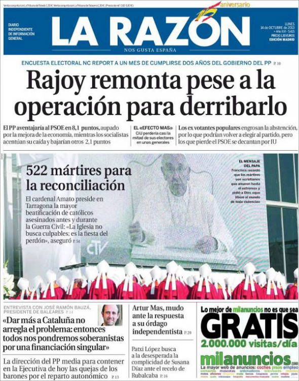 beatificaciones Tarragona 2013 la razón