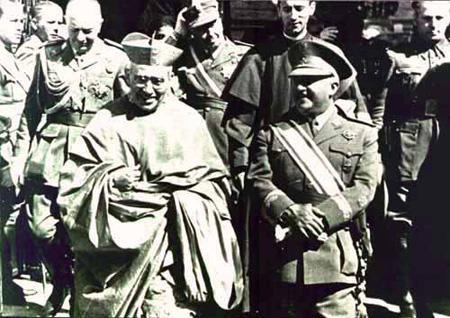 Franco con cardenal Segura