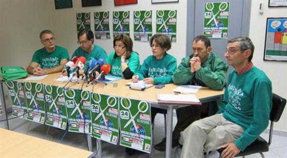 Huelga contra LOMCE rueda de prensa Valladolid