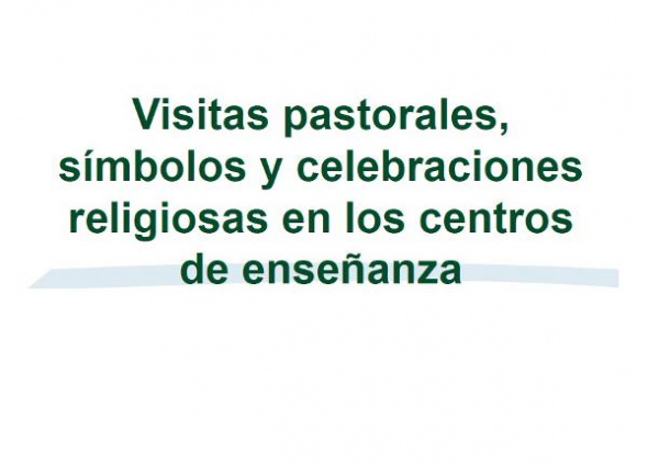 símbolos y actos religiosos escuela