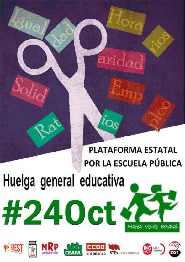 cartel huelga 24O
