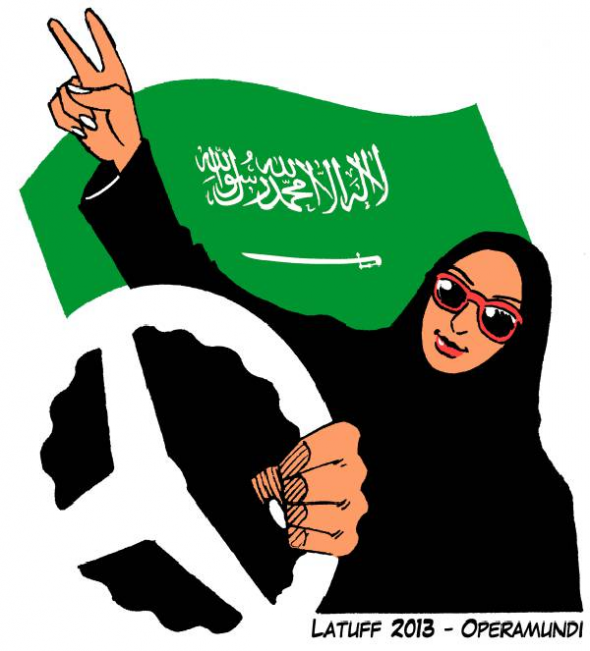 mujeres conducir Arabia