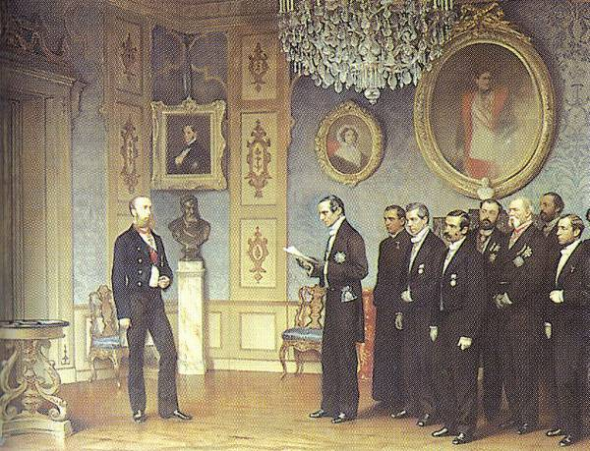 Maximiliano ofrecimiento reinar México