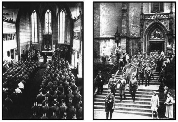 Las SA de Hitler en misa