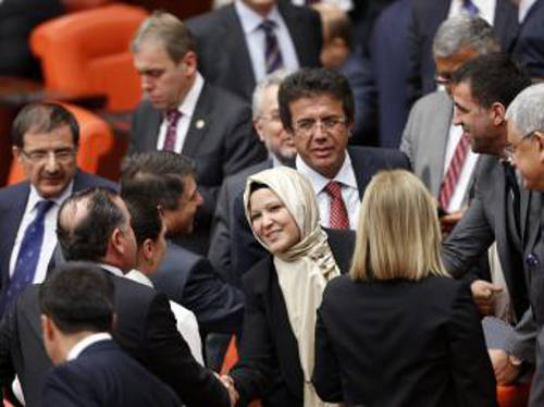 Diputada velo Turquía
