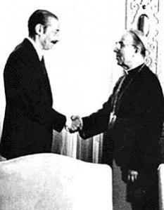 Cardenal Samoré y dictador Videla