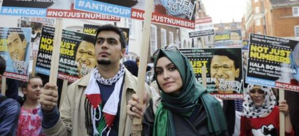 Mani islamista egipcia Londres 2013