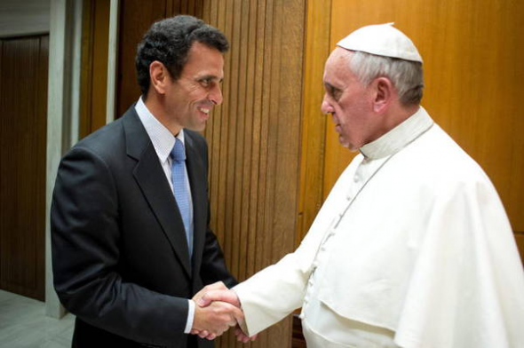 Bergoglio y Capriles de Venezuela