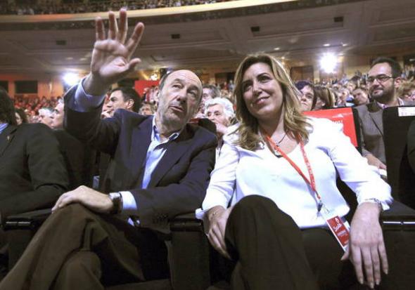 Conferencia política PSOE 2013 Rulbalcaba y Susana