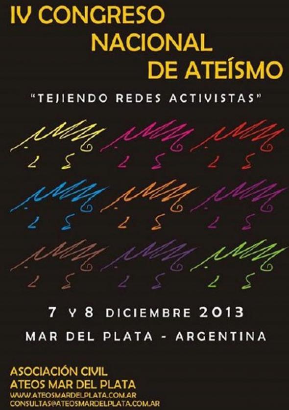 Cartel IV Congreso ateo ARG 2013