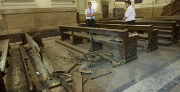 destrozos en El Pilar Zaragoza 2013