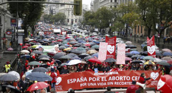 mani antiaborto Madrid 2013