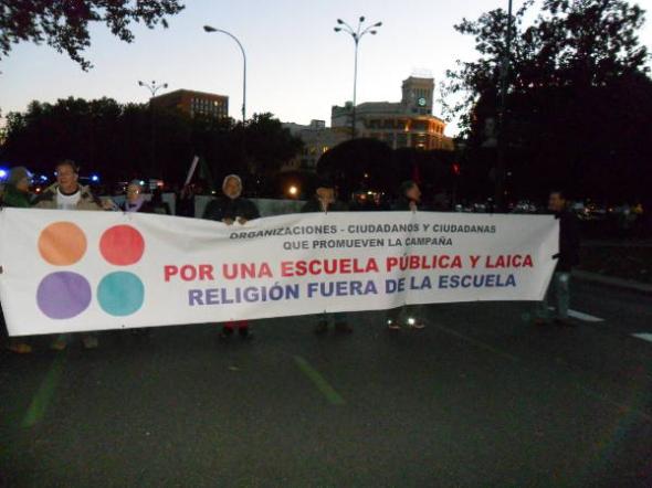 Mani Escuela Laica 20N Madrid