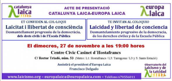 Acto Barcelona 27 nov 2013