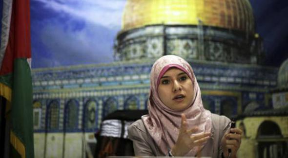 La portavoz de Hamás Israa Al Modallal