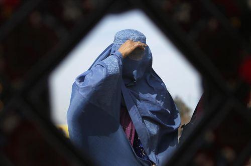 Mujer afgana burka