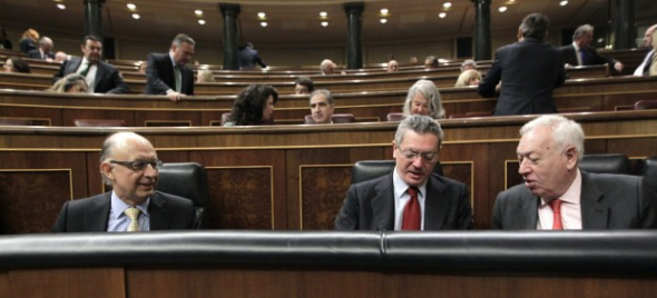 ministros PP en el Congreso