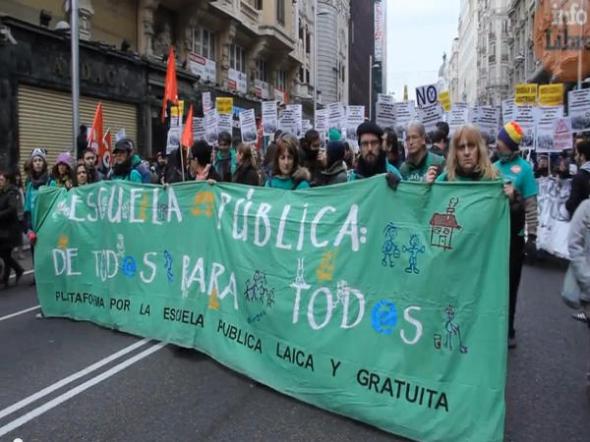mani anti LOMCE nov2013 Madrid