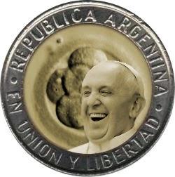 moneda Bergoglio papa