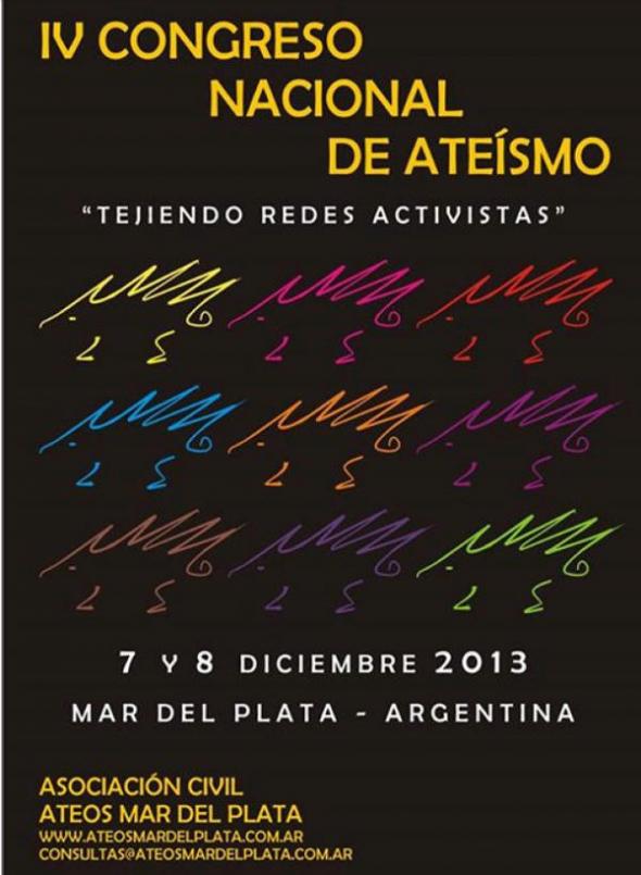 Cartel Congreso Ateos ARG 2013