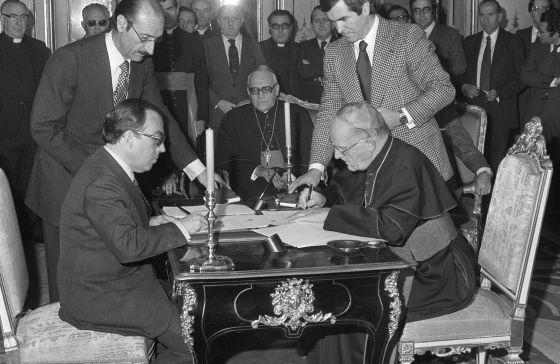 firma Acuerdos España Santa Sede 1979