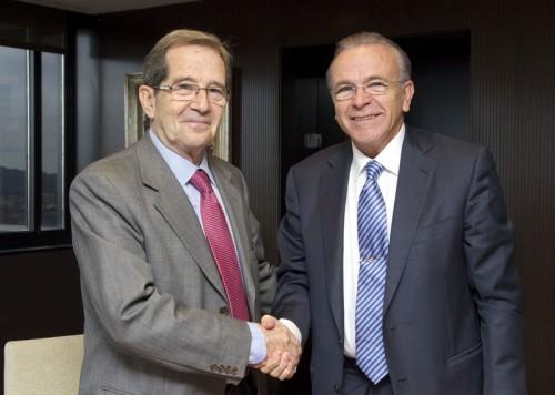 presidentes Caixa y Banco Alimentos