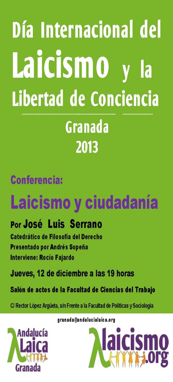 Cartel Día Laicismo 2013