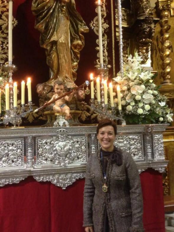 alcaldesa La Línea con Inmaculada alcaldesa perpetua 2013