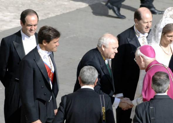 Moratinos Bono Aguilar ministros PSOE Roma 2005
