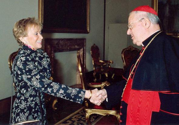 Vicepresidenta Vega PSOE cardenal Sodano 2005