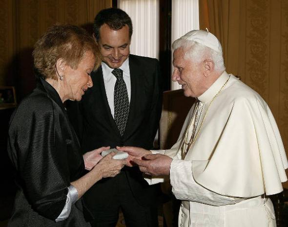 Zapatero Vega PSOE Benedicto XVI Valencia 2006