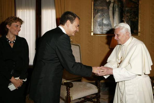 Zapatero PSOE Benedicto XVI Valencia 2006