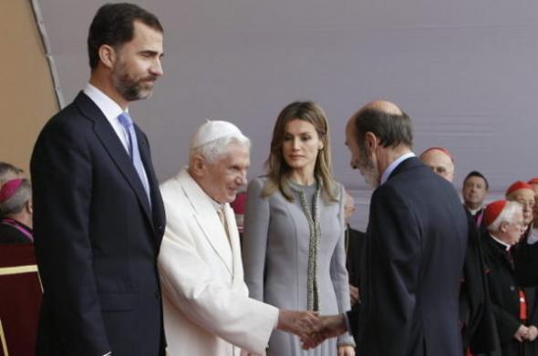 Rubalcaba PSOE príncipes Benedicto XVI Santiago 2010