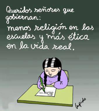 menos religión más ética