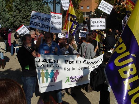 Acto ¡Por un Estado Laico, Ya!,  el 23 de Octubre en Madrid